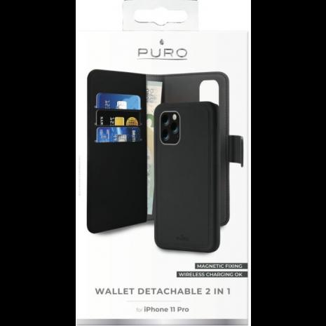 Apple iPhone 11 Pro Magnet pung taske og cover 2-i-1 fra Puro - Sort-4