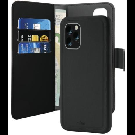 Apple iPhone 11 Pro Max Magnet pung taske og cover 2-i-1 fra Puro - Sort-1
