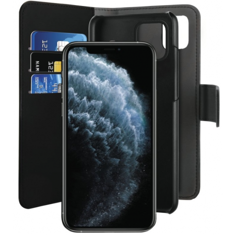 Apple iPhone 11 Pro Max Magnet pung taske og cover 2-i-1 fra Puro - Sort-3