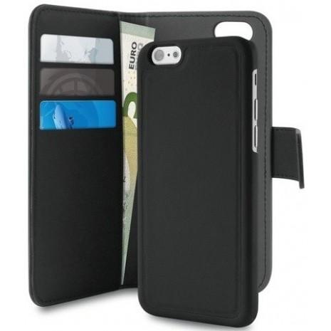 Apple iPhone 6/6S/7/8 Magnet pung taske og cover 2-i-1 fra Puro - Sort-1