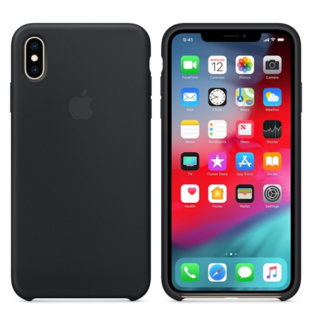 Apple - MQT12FE/A - Silicon Case  Apple iPhone X, Xs - black-1