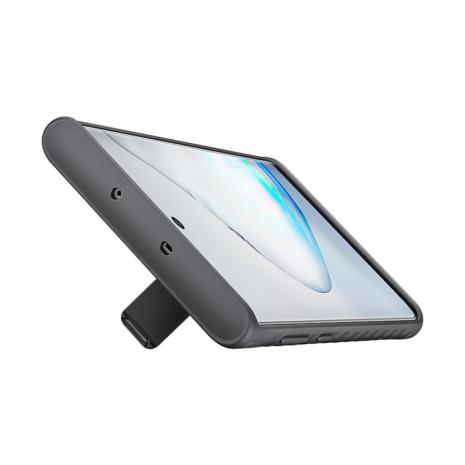 Beskyttelses cover med stander til Samsung Galaxy Note 10 - Sort -1