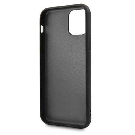BMW - Logo Imprint - Leather Hard Cover - Apple IPhone 11 Pro Max - Black-2