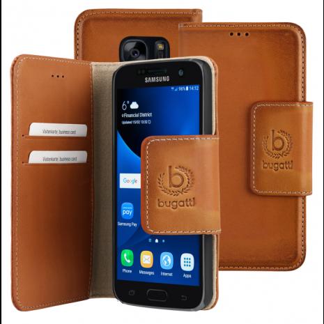 bugatti Booklet Case Amsterdam for Galaxy S7 sand-1