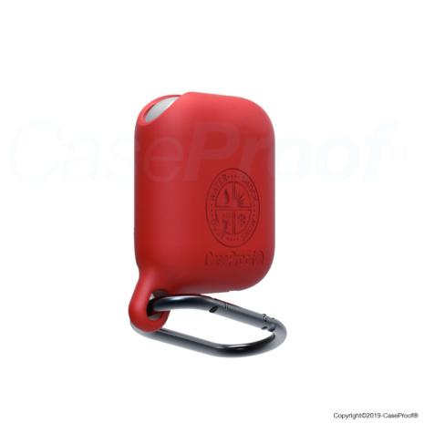 CaseProof waterproof airpods case red-1