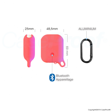 CaseProof waterproof airpods case red-5