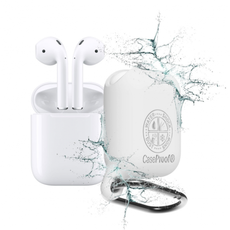 CaseProof waterproof airpods case White-1