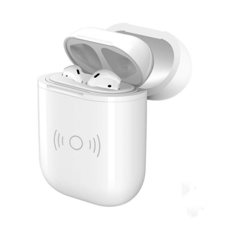 Cyoo -  Charge Case - Apple Airpod - - with cable or Wireless - white-1