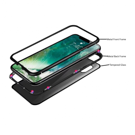 Cyoo Magnestisk Cover tl iPhoen XS Max - Sort/Clear -1