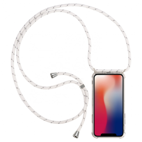 Cyoo - Necklace Case + Necklace - Samsung G975F Galaxy S10+ - White - Silicon Case-1