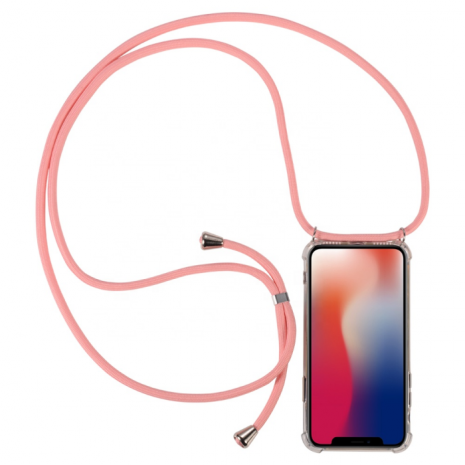 Cyoo - Necklace Case + Necklace - Xiaomi Mi9 - Pink - Silicon Case-1