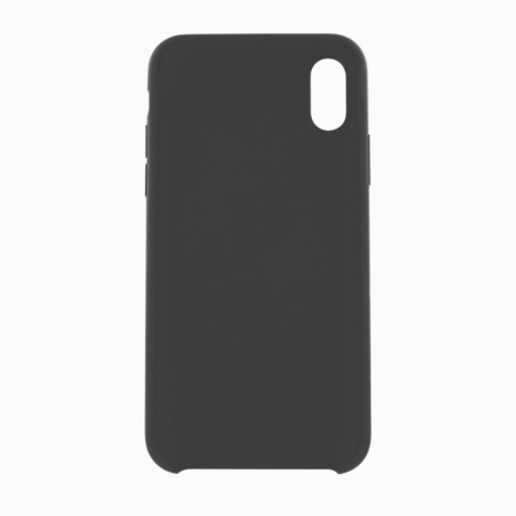Cyoo - Premium Liquid Silicon Hard Cover - iPhone X,Xs - Black-1