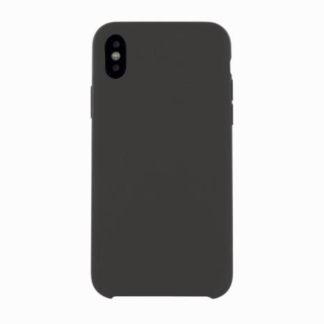 Cyoo - Premium Liquid Silicon Hard Cover - iPhone X,Xs - Black-2