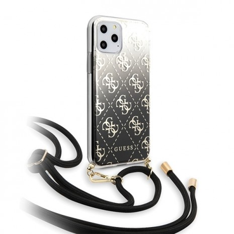 Guess - 4G Electroplated Gradient Case - Apple iPhone 11 Pro - Black - Hard Case-2