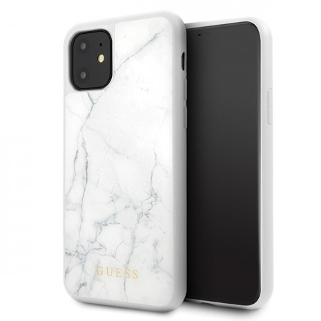 Guess - Marble Collection - Apple iPhone 11 Pro - White - Cover-2