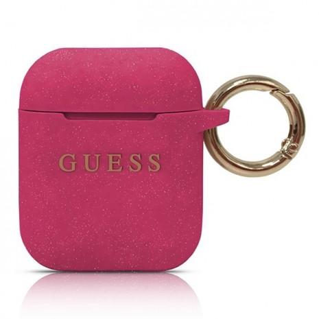 Guess - Silicon Cover Ring -  Airpods - Magenta-1