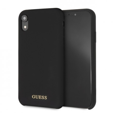 Guess - Silicon Impact - Case - Apple iPhone Xr - Black-1