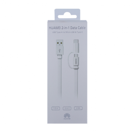 Huawei AP55 2 in 1 Cable Micro USB & USB-C 1.5m White-5