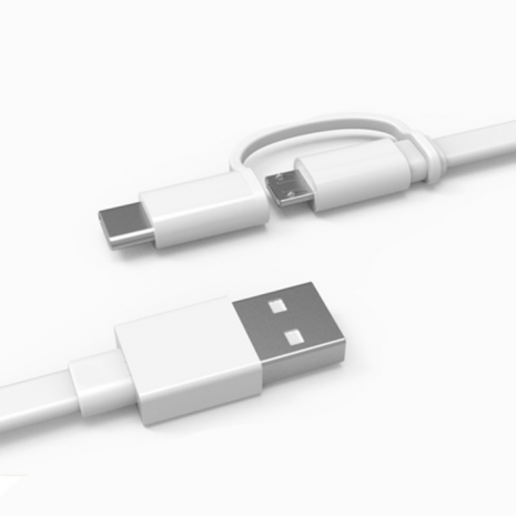 Huawei AP55 2 in 1 Cable Micro USB & USB-C 1.5m White-7