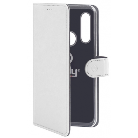 Huawei P30 Lite flipcover Celly Wally Case - Hvid-1