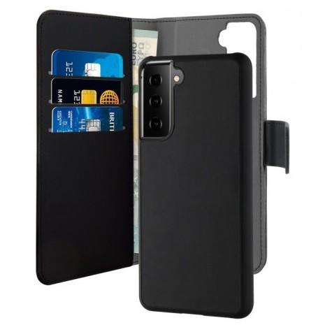 Samsung Galaxy S21 Magnet pung taske og cover 2-i-1 fra Puro - Sort
