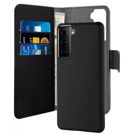 Samsung Galaxy S21+ (Plus) Magnet pung taske og cover 2-i-1 fra Puro - Sort