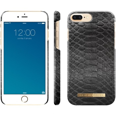 iPhone 6+/6S+/7+/8+ Cover iDeal Fashion Case Black Reptile-2