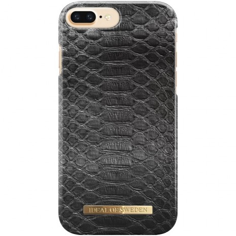iPhone 6+/6S+/7+/8+ Cover iDeal Fashion Case Black Reptile-1