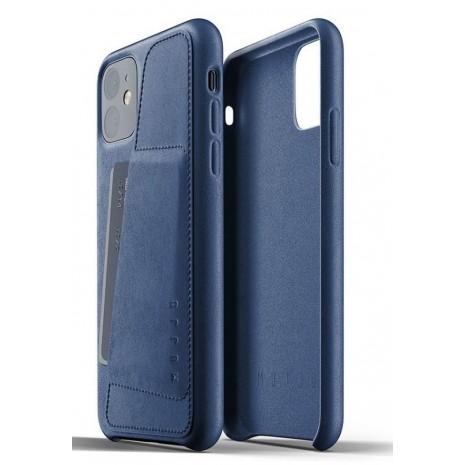Mujjo Leather Wallet Case til Apple iPhone 11, Blå