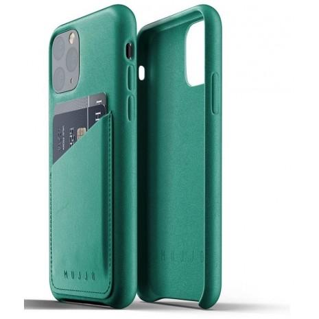 Mujjo Leather Wallet Case til Apple iPhone 11 Pro, Grøn