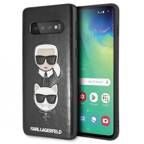 Karl Lagerfeld - Choupette Embossed Case-  Samsung Galaxy S10+ - Black-1