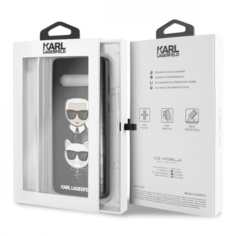 Karl Lagerfeld - Choupette Embossed Case-  Samsung Galaxy S10+ - Black-2