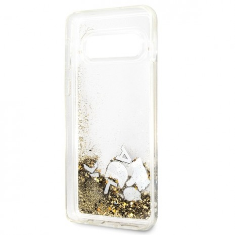 Karl Lagerfeld - Glitter Floatting Case-  Samsung Galaxy  S10+  - Transparent-1