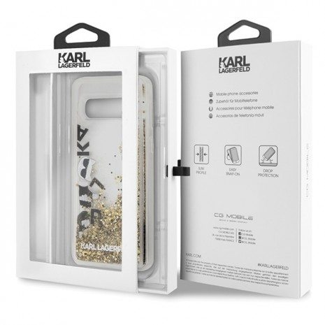 Karl Lagerfeld - Glitter Floatting Case-  Samsung Galaxy  S10e  - Transparent-1