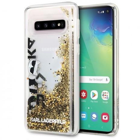 Karl Lagerfeld - Glitter Floatting Case-  Samsung Galaxy  S10e  - Transparent-2