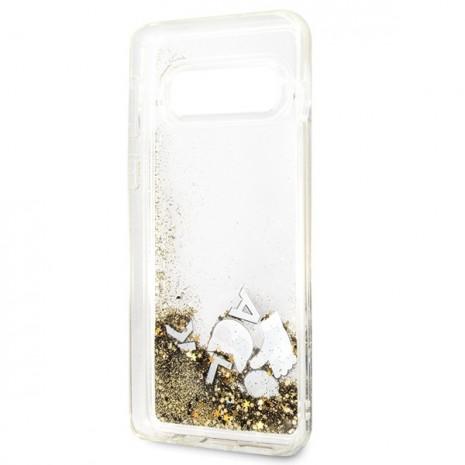 Karl Lagerfeld - Glitter Floatting Case-  Samsung Galaxy  S10e  - Transparent-3