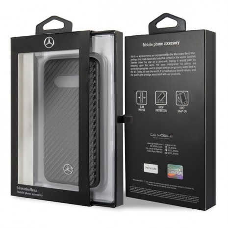 Mercedes Benz - Real Carbon Hard Cover - Samsung Galaxy S10e- Black-2