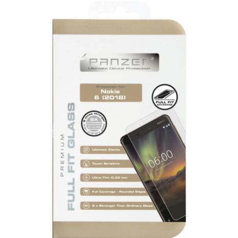 Panzer Tempered Glass Full-Fit til Nokia 6/6.1  Gennemsigtig-1