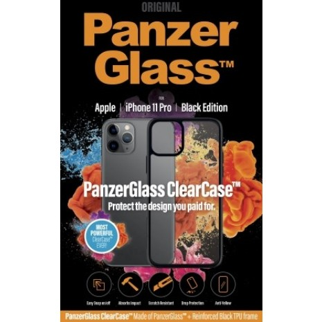 PanzerGlass Transparent cover med sort kant til iPhone 11 Pro.  -3