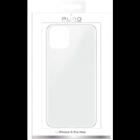 Puro 0.3 Nude Cover til Apple iPhone 11 Pro Max - Gennemsigtig-4
