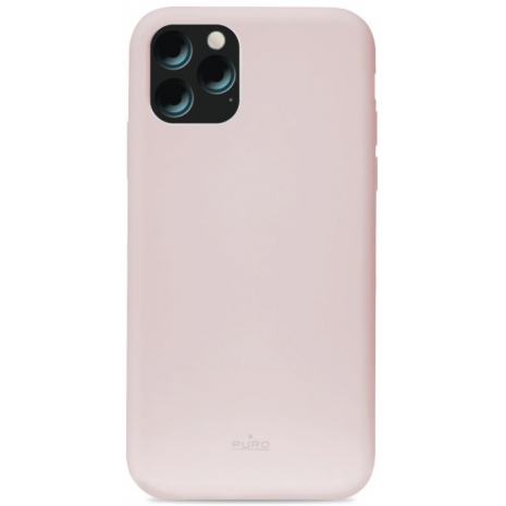 Puro Icon Apple iPhone 11 Pro Max Silikone Cover, Pink / lyserød-1