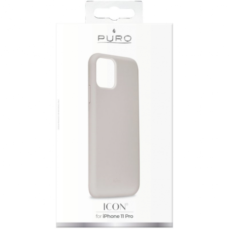 Puro Icon Apple iPhone 11 Pro Silikone Cover, Grå-3