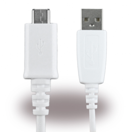 Samsung - ECB-DU28WE - Data and Charging Cable - Micro USB - 0.8m - White-1