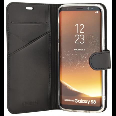 Samsung Galaxy S8 Læder Flipcover Valenta Booklet Premium Sort-1