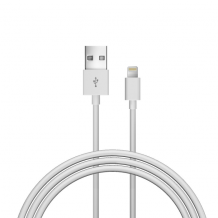 Lightning kabel til iPhone og iPad, Just Wireless 1,5 meter - Hvid-1