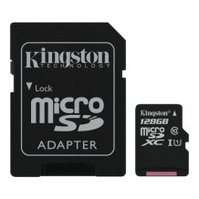 128GB microSDHC 80R CL10 UHS-I Card Incl. Adapter-1