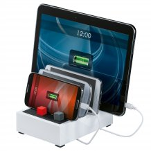 Hama Bordlader Powerhouse til 4 telefoner / tablets