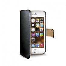 Celly Wally Flipcover med Dankortlommer iPhone 5/5S/SE Sort