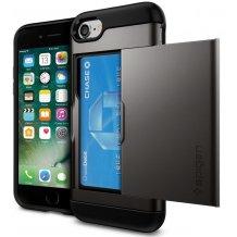 Spigen Slim Armor CS til iPhone 7 Metal/Sort