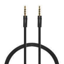 Puro fladt 3,5 mm AUX kabel - Sort